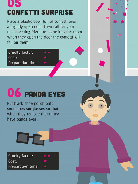 Top 10 Pranks To Play On Friends In The Home Infographic