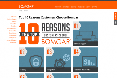Top 10 Reasons to Choose Bomgar (Microsite) Infographic