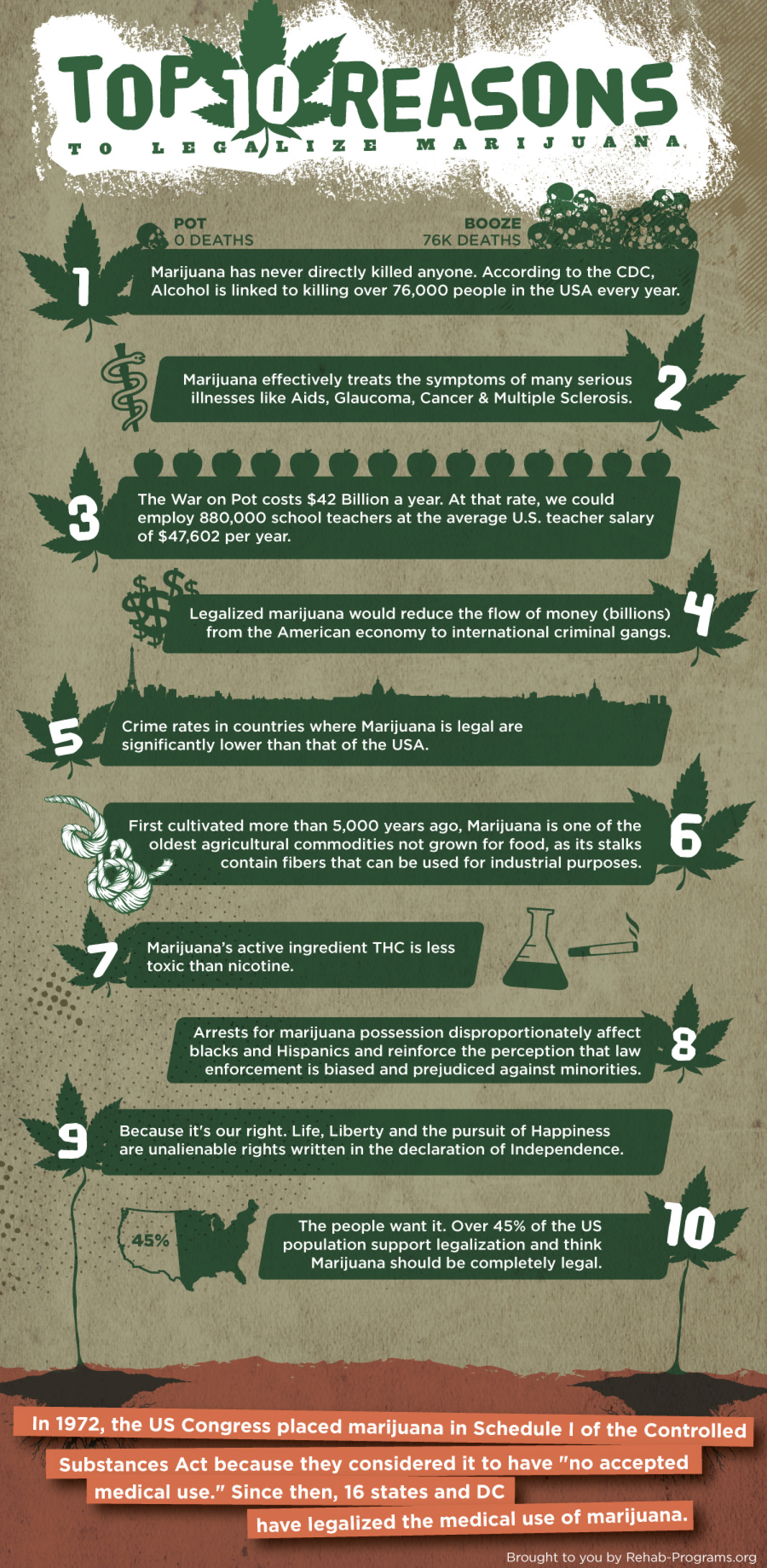 Top 10 Reasons To Legalize Marijuana  Infographic
