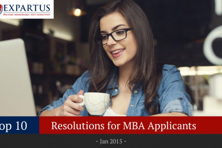 Top 10 Resolutions for MBA Applicants Infographic