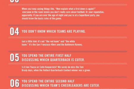 Top 10 Signs You're A Super Bowl Poser Infographic