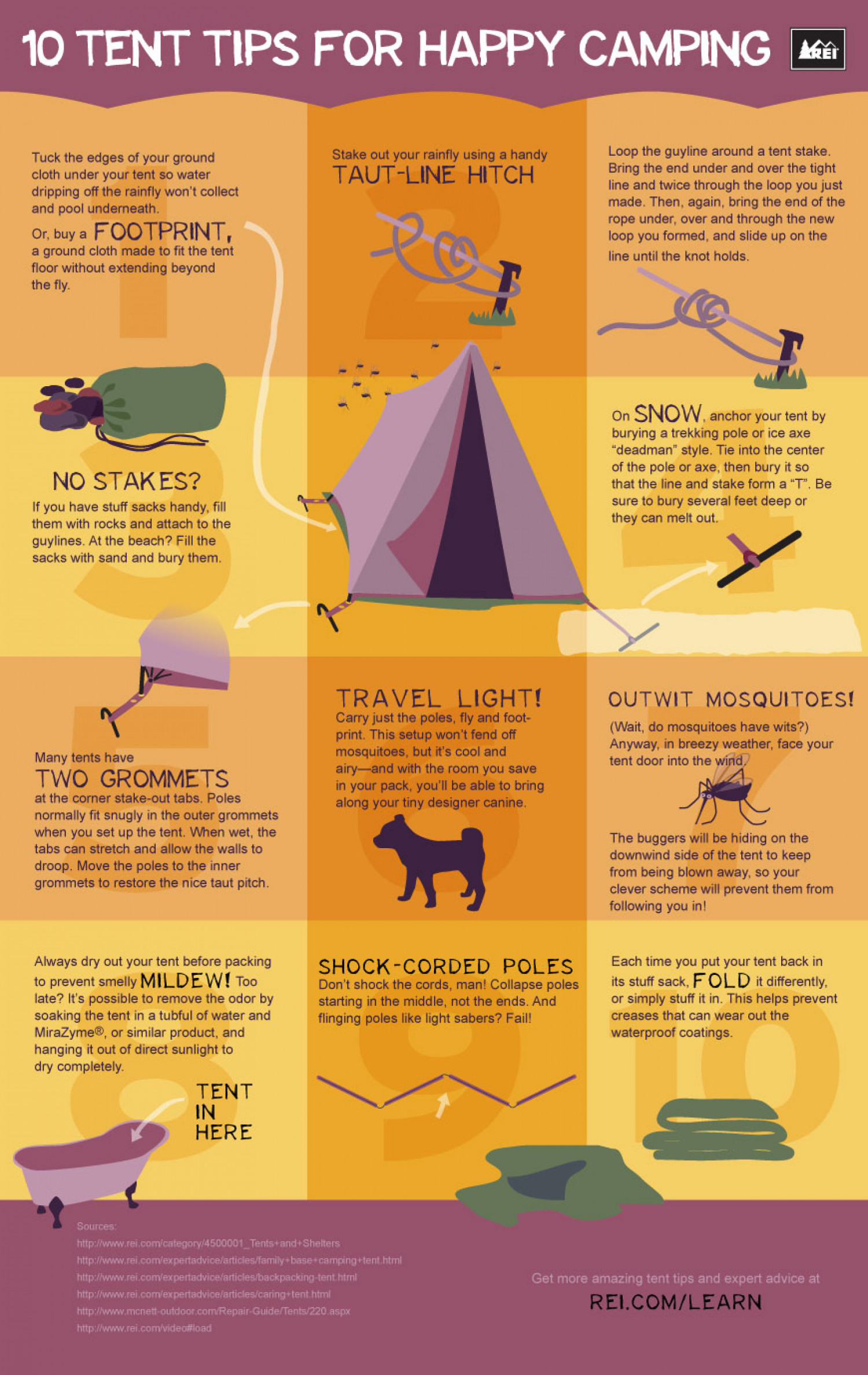 Top 10 Tent Tips for Happy C&ing Infographic  sc 1 st  Visually & Top 10 Tent Tips for Happy Camping | Visual.ly