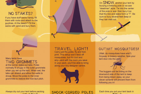 Top 10 Tent Tips for Happy Camping Infographic
