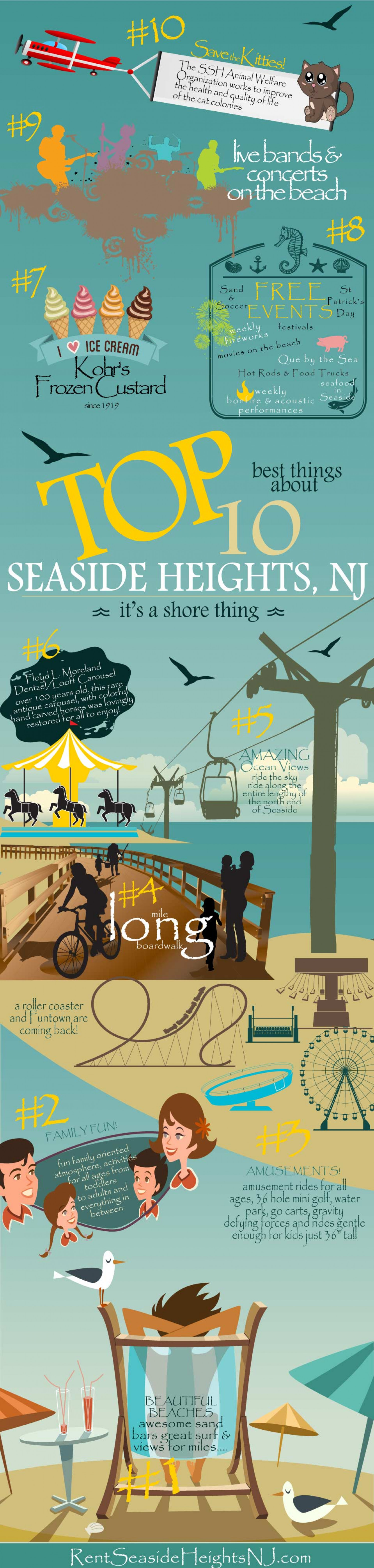 Top 10 Things About Seaside Heights NJ Infographic
