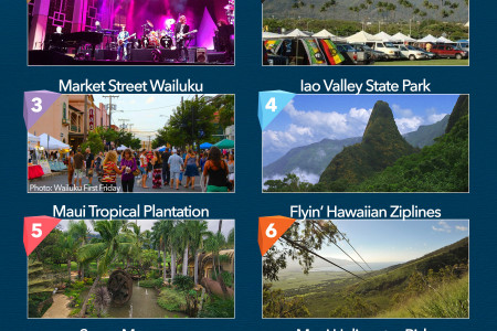 Top 10 Things to Do in Kahului and Wailuku Infographic