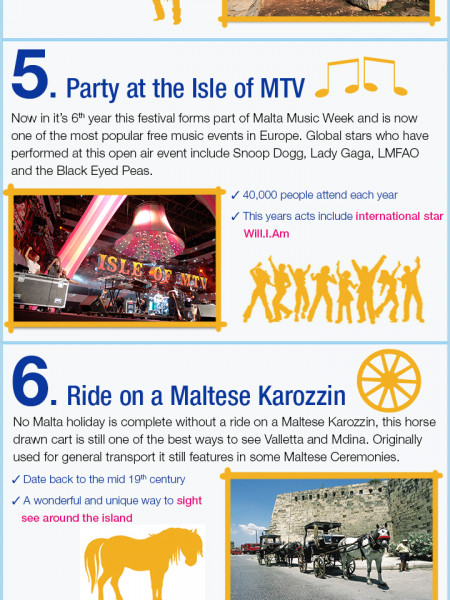 Top 10 Things to do in Malta Infographic