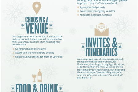 Top 10 Tips for Xmas Party Planning Infographic