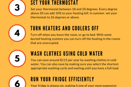 Top 10 Ways To Save Energy Infographic