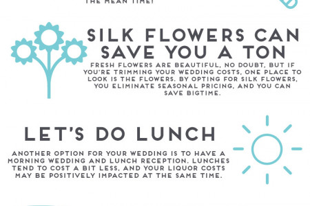 Top 10 Ways To Save On Your Wedding Infographic