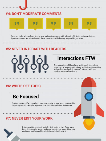 Top 10 Ways To Screw Up Your Blog Infographic