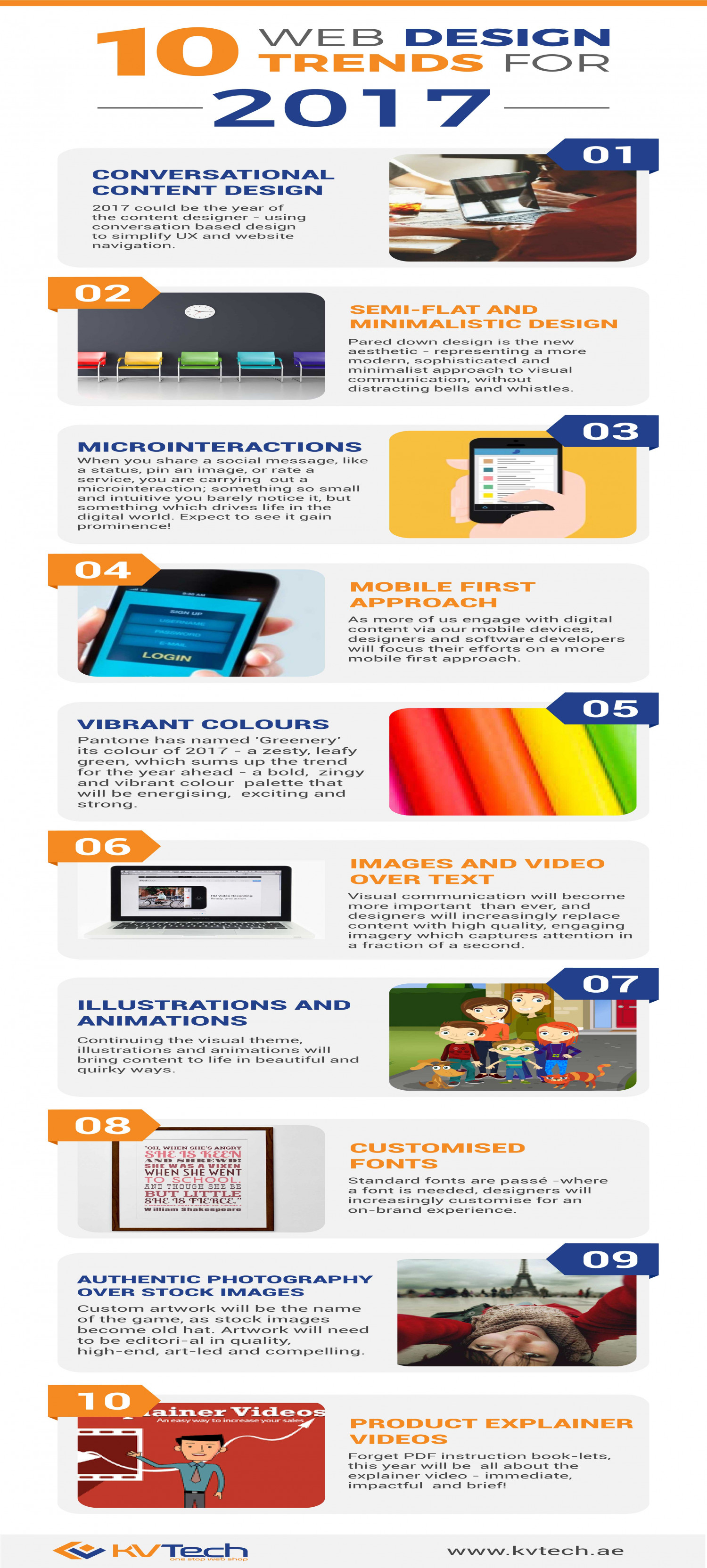 Top 10 Website Design Trends 2017 Infographic