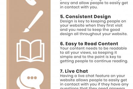 Top 11 Features your website must have Infographic