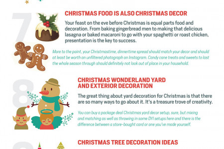 Top 12 Christmas Decorating Ideas (Infographic) Infographic