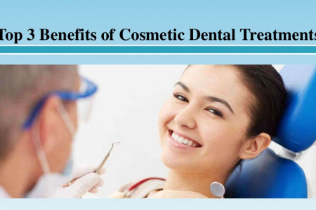 Top 3 Benefits of Cosmetic Dental Treatments Infographic