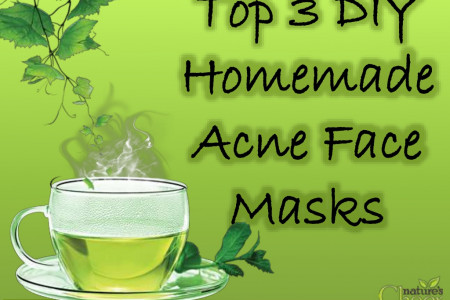 Top 3 DIY Homemade Acne Face Masks Infographic