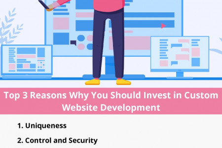 Top 3 Reasons Why You Should Invest in Custom Website Development Infographic
