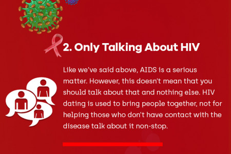 Top 3 Things you shouldn't Do on HIV Dating Sites Infographic