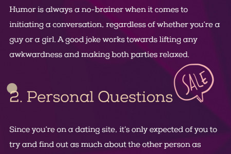 Top 3 Ways to Start a Conversation on Dating Sites Infographic