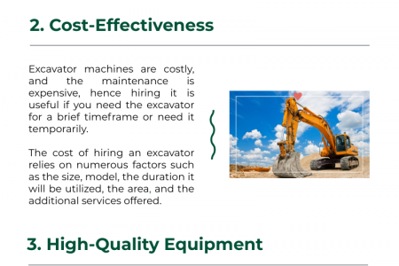 Top 4 Benefits of Excavator Hire Infographic