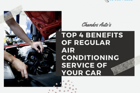 Top 4 Benefits Of Regular Air Conditioning Service Of  Your Car Infographic