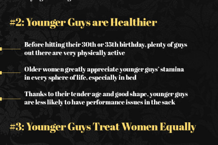 Top 4 Claw some Reasons why Younger Men and Older Women are a Perfect Match Infographic