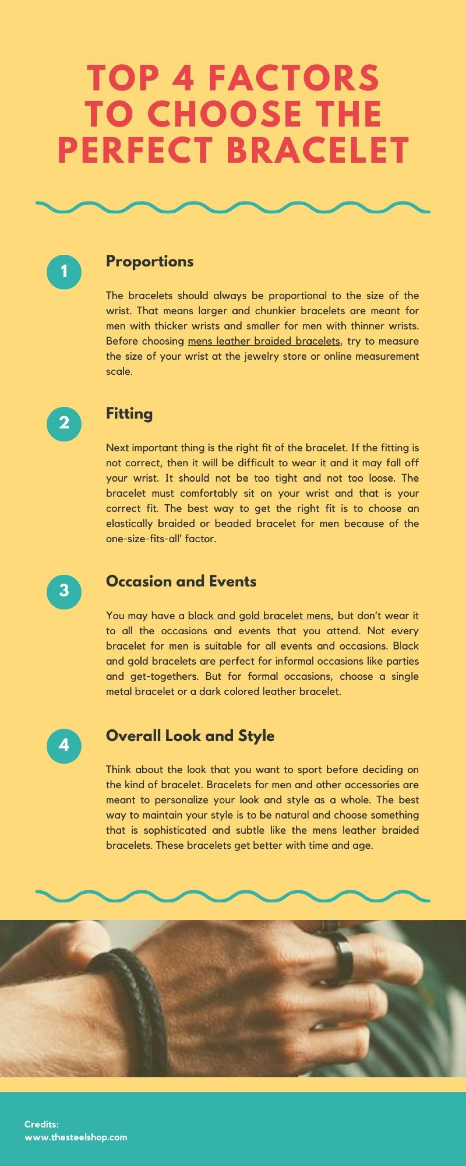 Top 4 Factors to Choose the Perfect Bracelet Infographic