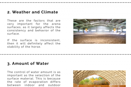 Top 4 Most Important Factors for Creating a Horse Arena Infographic