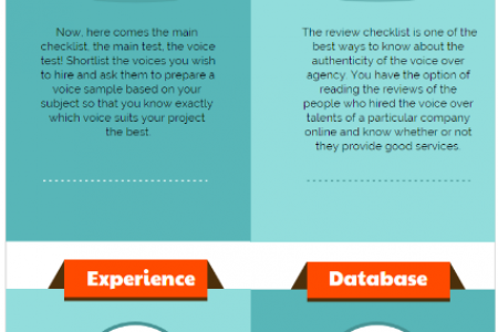 Top 4 Tips For Shortlist The Best Voice Over Talent Agency  Infographic