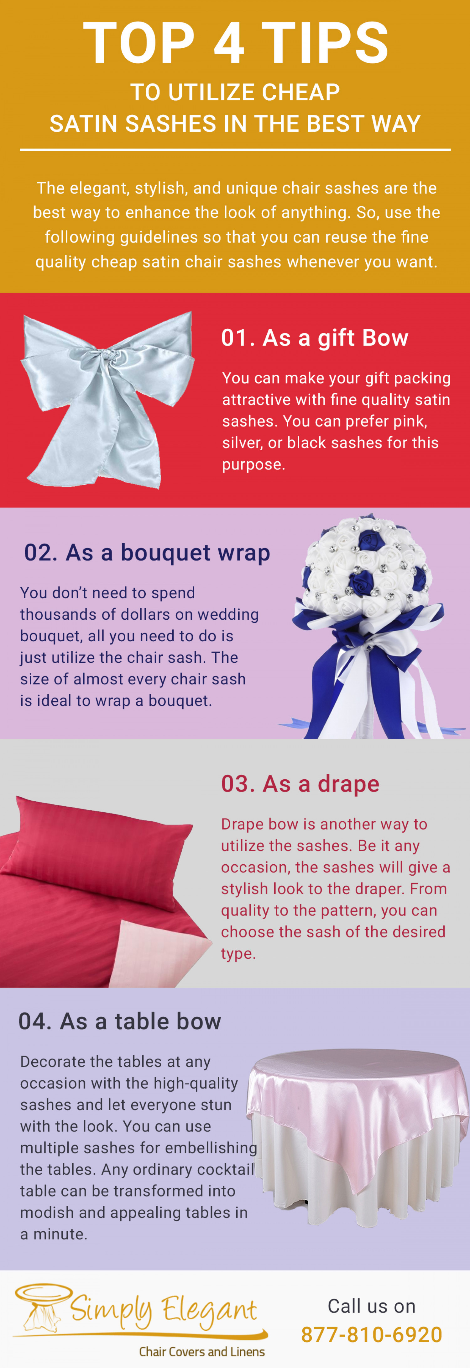 Top 4 Tips to utilize cheap satin sashes in the best way Infographic