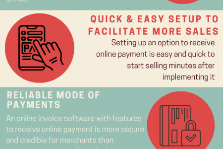 Top 5 Advantages of Accepting Payments Online for your Business Infographic