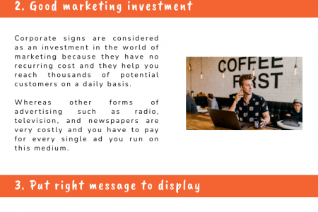 Top 5 Advantages of Corporate Signs Infographic
