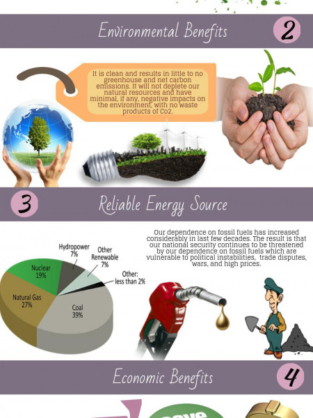 Top 5 Advantages of Renewable Energy Infographic