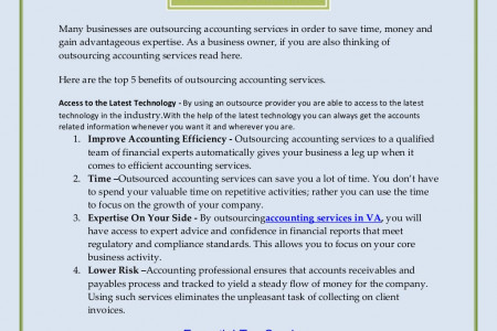 Top 5 Benefits of Outsourcing Accounting Services Infographic