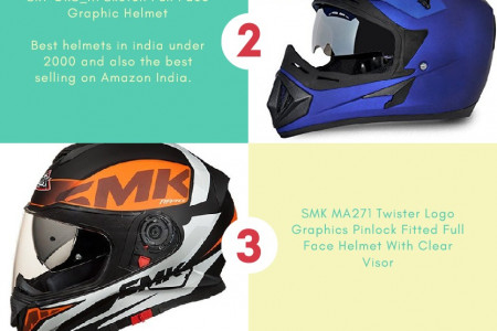 Top 5 best bike helmets for Indian Bikers (motorcycle accessories) Infographic