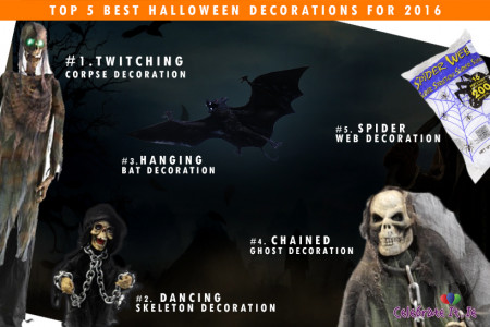 Top 5 Best Halloween Decorations for 2016 Infographic