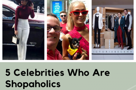 TOP 5 Celebrities Who Are Shopaholics | 24celebs.com Infographic