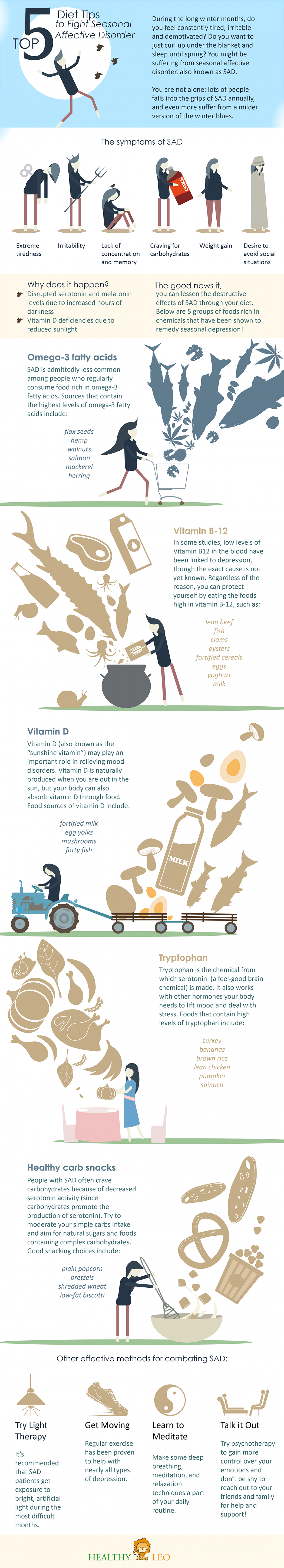 Top 5 Diet Tips to Fight Seasonal Affective Disorder Infographic