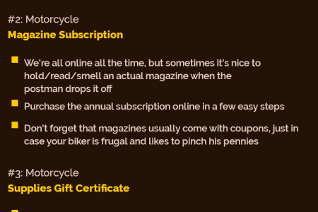Top 5 Gift Ideas For Bikers Infographic