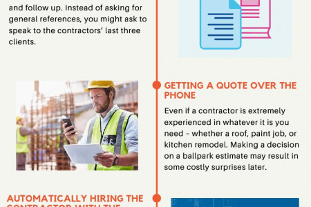 Top 5 Mistakes When Hiring a Contractor Infographic