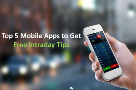Top 5 Mobile Apps to Get Free Intraday Tips Daily Infographic