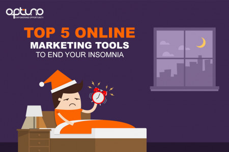 Top 5 Online Marketing Tools to End Your Insomnia Infographic