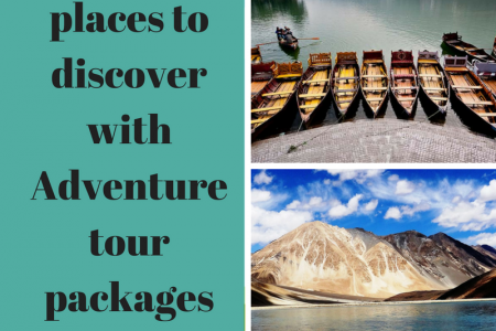 TOP 5 PLACES TO DISCOVER WITH ADVENTURE TOUR PACKAGES IN INDIA Infographic