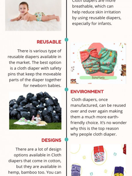 Top 5 Reasons to Choose Cloth Diapers Infographic