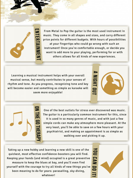 Top 5 Reasons To Learn To Play The Guitar Infographic