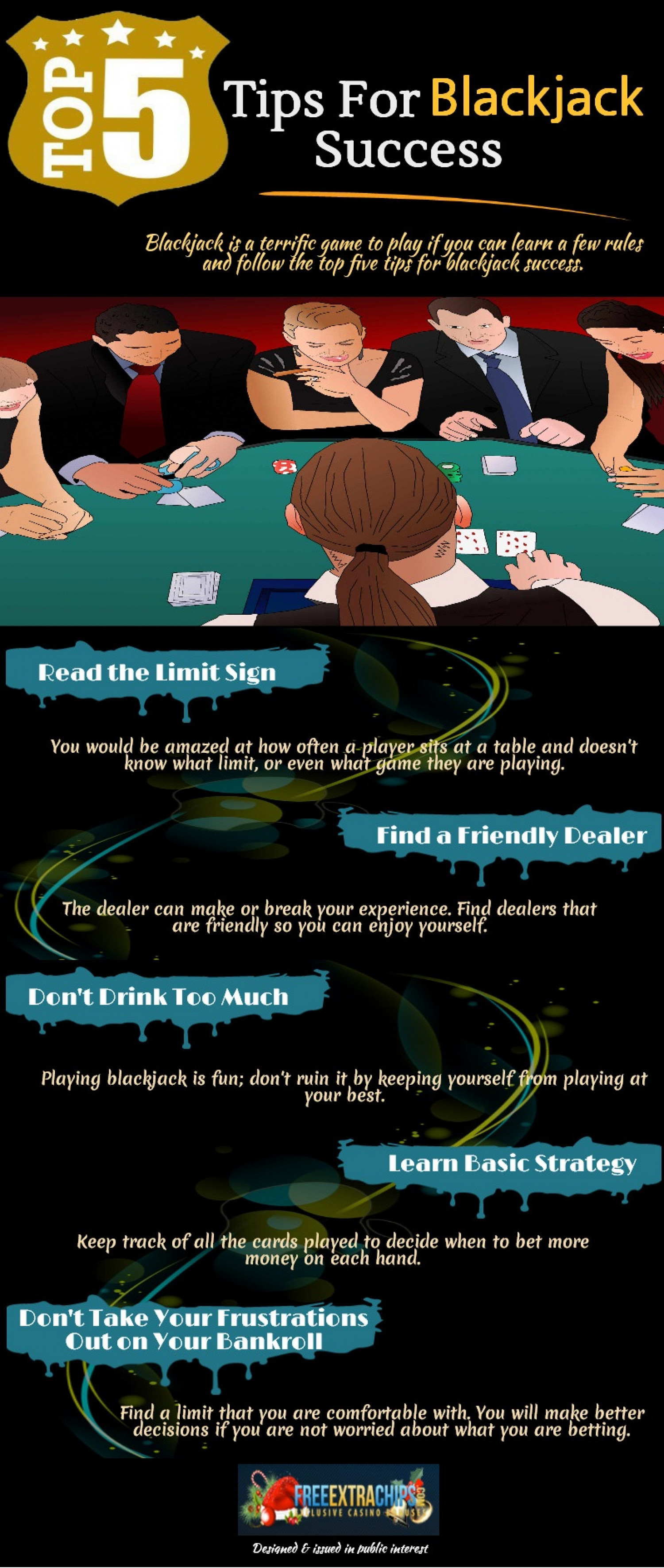 Top 5 Tips for Blackjack Success Infographic
