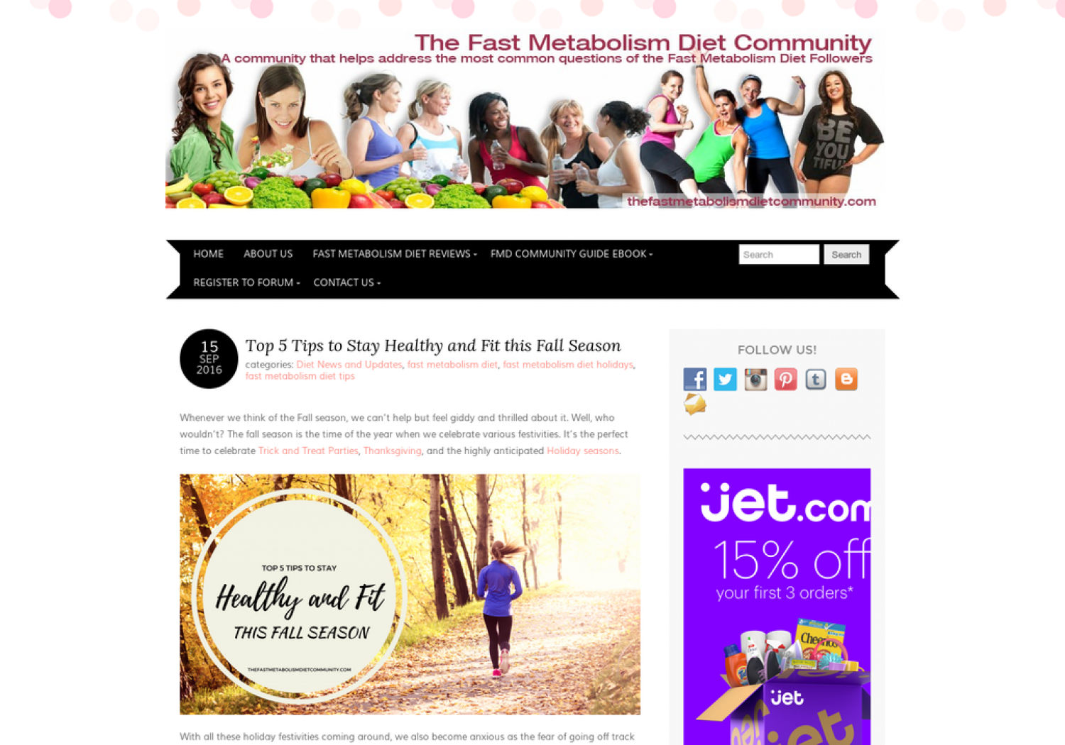 Top 5 Tips to Stay Healthy and Fit this Fall Season Infographic