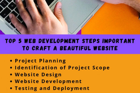 Top 5 Web Development Steps Important To Craft A Beautiful Website Infographic