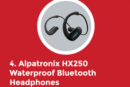 Top 5 Wireless Headphones for Swimming Infographic