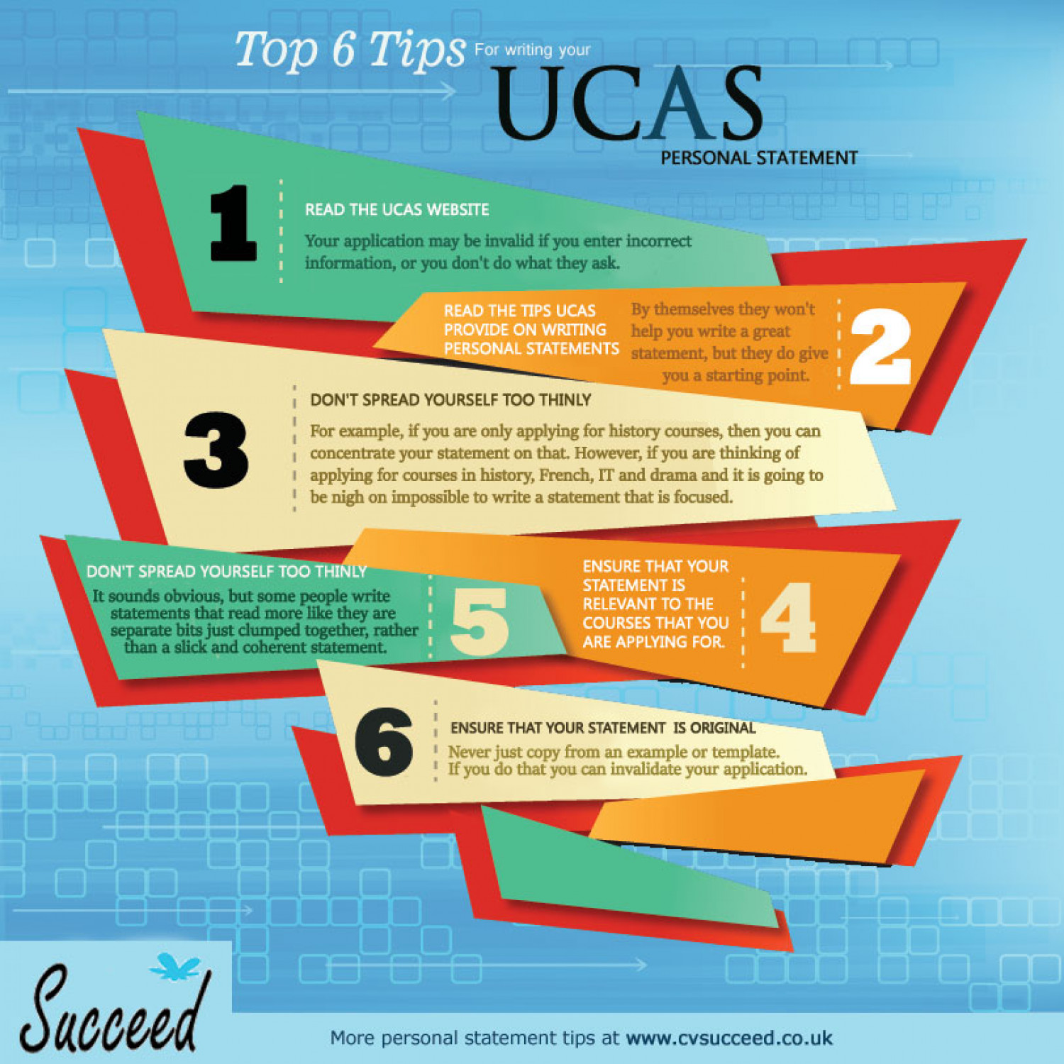 Top 6 UCAS Personal Statement Writing Tips | Visual.ly