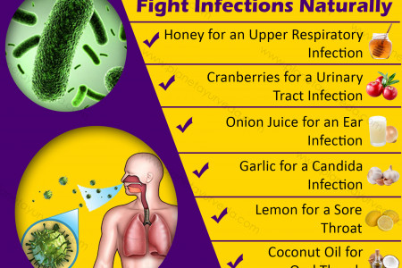 Top 7 Crucial Foods that Fight Infections Naturally Infographic